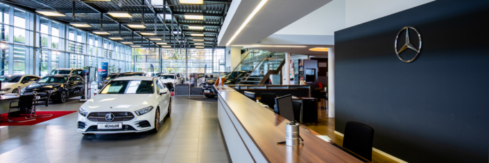 Mercedes Autohaus Empfang in Moers