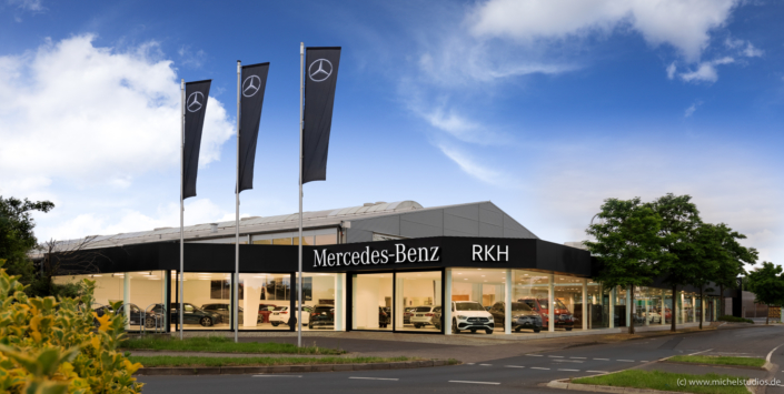 Aussenaufnahme vom Mercedes Autohaus RKH in Rheinbach